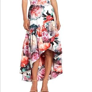 ad248cff1 New Eliza J Floral Print Hi-Low Flirty Skirt
